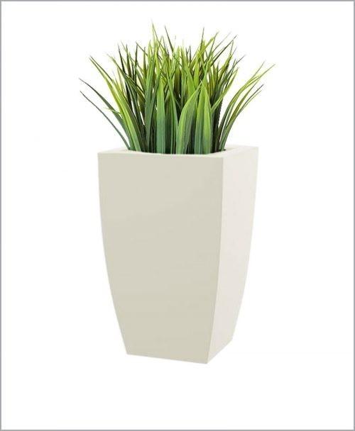 Semi Square Shape Fiber Planter 24 inch, Indoor - Outdoor Planter