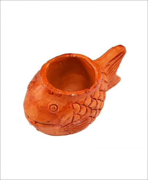 Garden Miniature Terracotta Fishes (Set of 2 Fishes)
