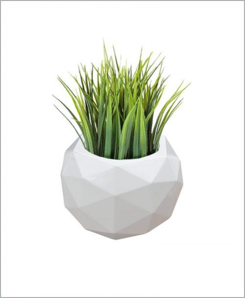 Decorative Fiber Planter 18 inch Geometric Shape Football