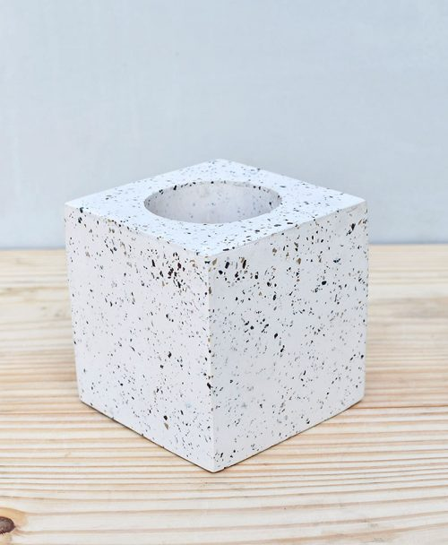 Geometric Concrete Planter Cube Large 2