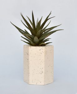 Geometric Concrete Planter Hexagon Straight Large 4
