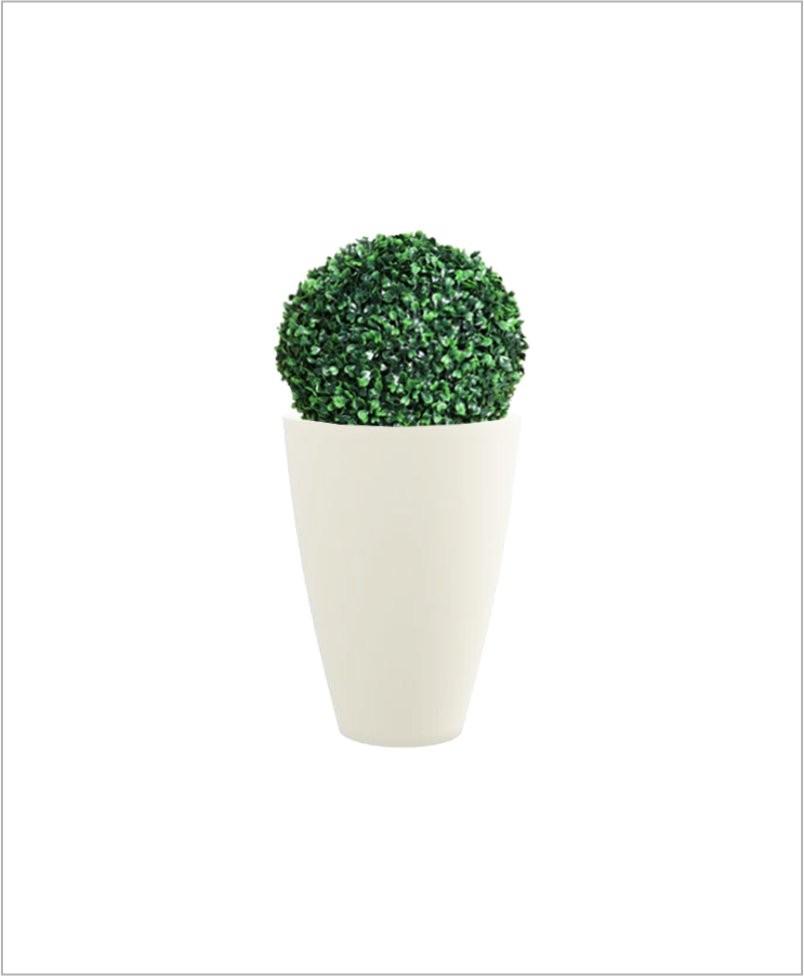 Glass Shape Round Fiber Planter 18 inch