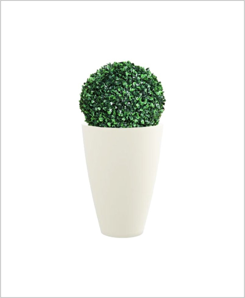 Glass Shape Round Fiber Planter 24 inch