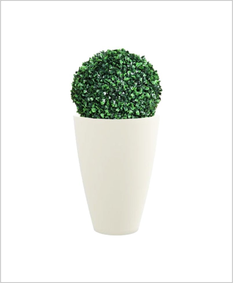 Glass Shape Round Fiber Planter 30 inch