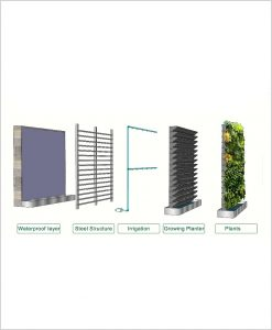 Green Wall Large Planters
