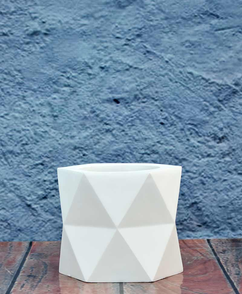 Geometric Shape Hexagon Planter 12 inch, Indoor – Outdoor Fiber Planter