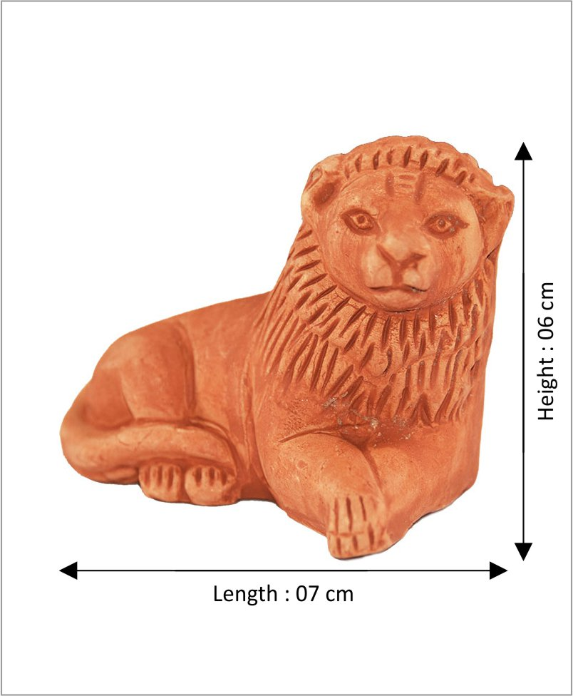 Garden Miniature Terracotta Lions (Set of 2 Lions)