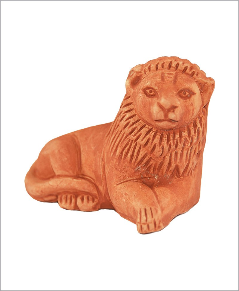Garden Miniature Terracotta Lions (Set of 2 Lions)