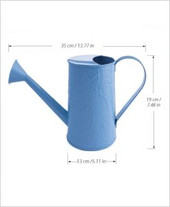 Metal Watering Can 1000ml Blue Dia