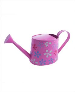 Metal Watering Can 1000ml Hand Painted Pink