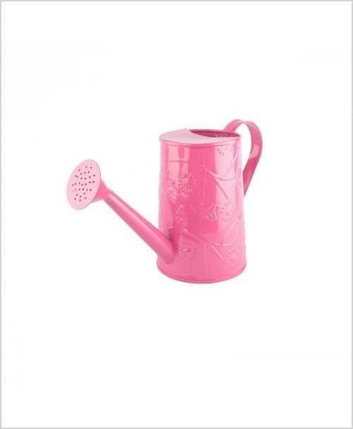 Metal Watering Can 1000ml Pink