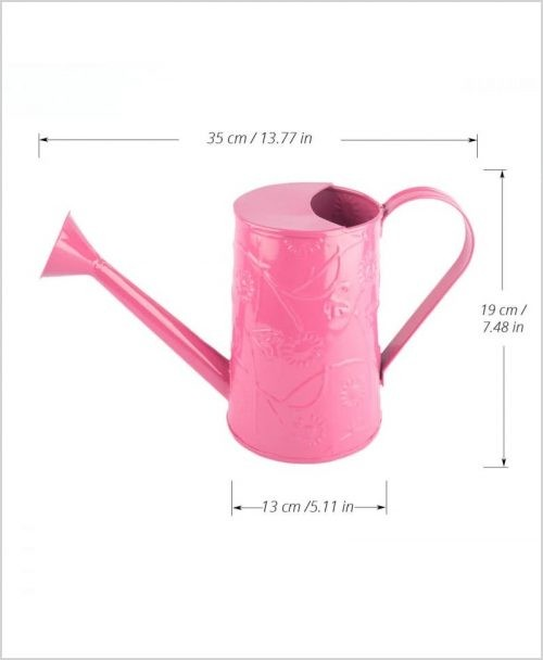 Metal Watering Can 1000ml Pink Dia