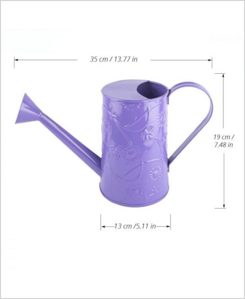 Metal Watering Can 1000ml Purple Dia