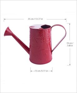 Metal Watering Can 1000ml Red Dia