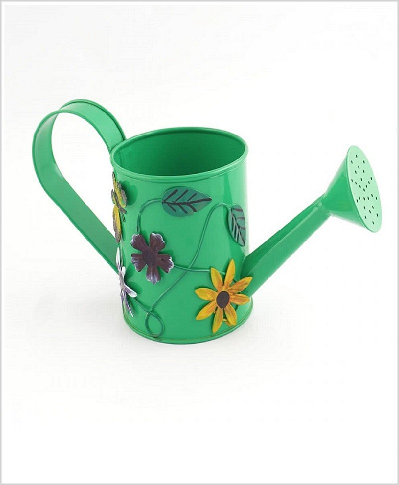 Metal Watering Can 500ml Green