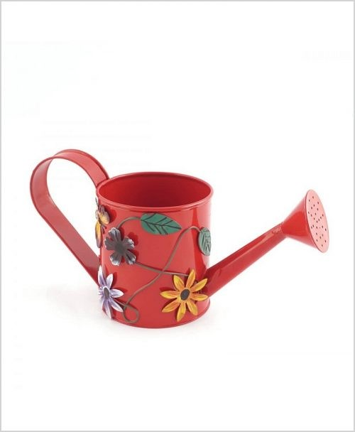Metal Watering Can 500ml Red