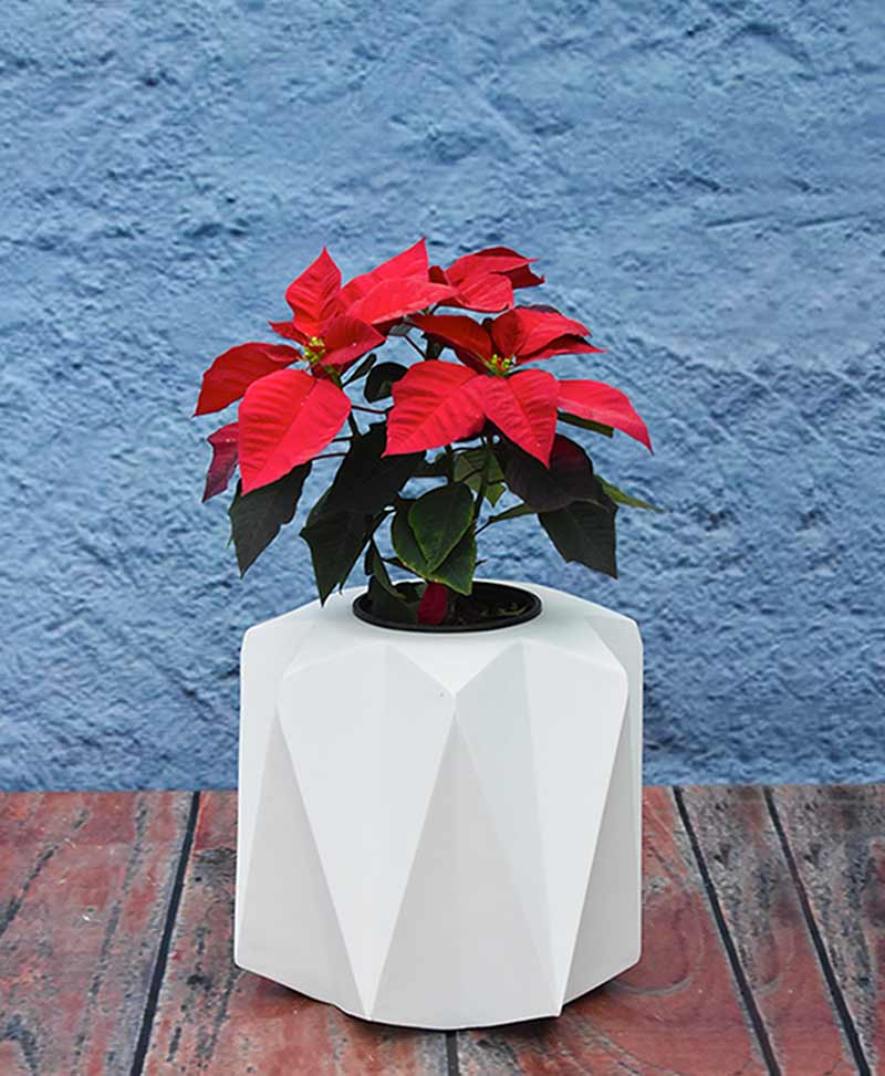 Geometric Shape Origami Planter 12 inch, Indoor – Outdoor Fiber Planter