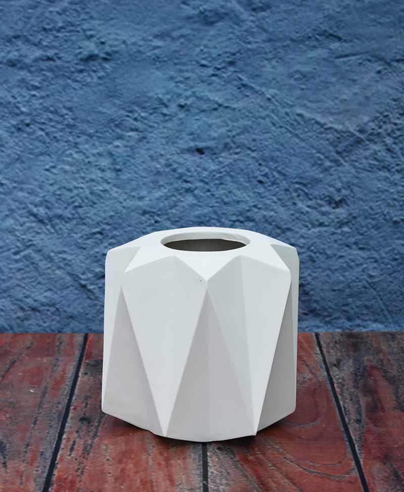 Geometric Shape Origami Planter 12 inch, Indoor – Outdoor Fiber Planter