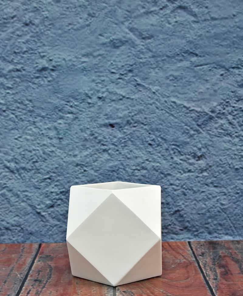 Geometric Shape Polygon Planter 12 inch, Indoor – Outdoor Fiber Planter