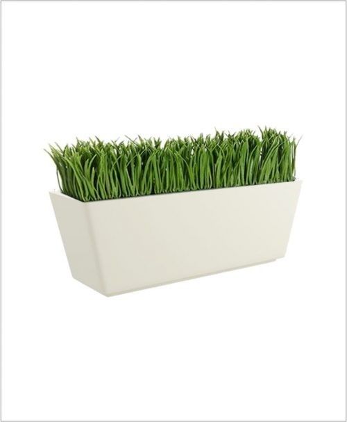 Rectangular Fiber Boat Planter 26 inch, Indoor - Outdoor Planter