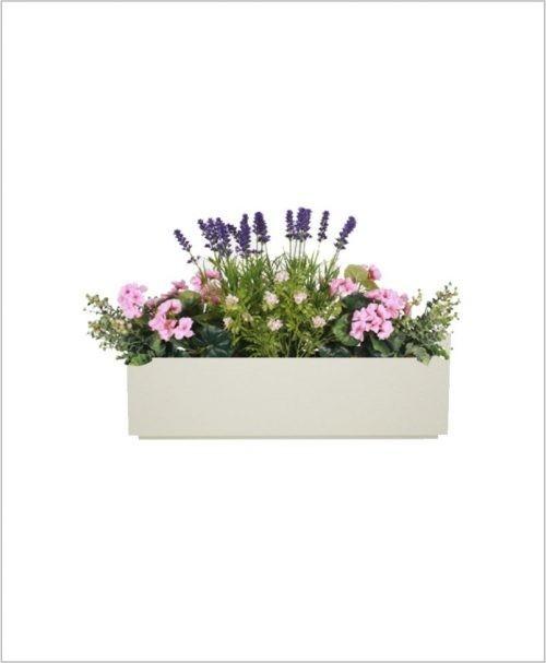Rectangular Fiber Box Tray Planter 24 inch, Indoor - Outdoor Planter