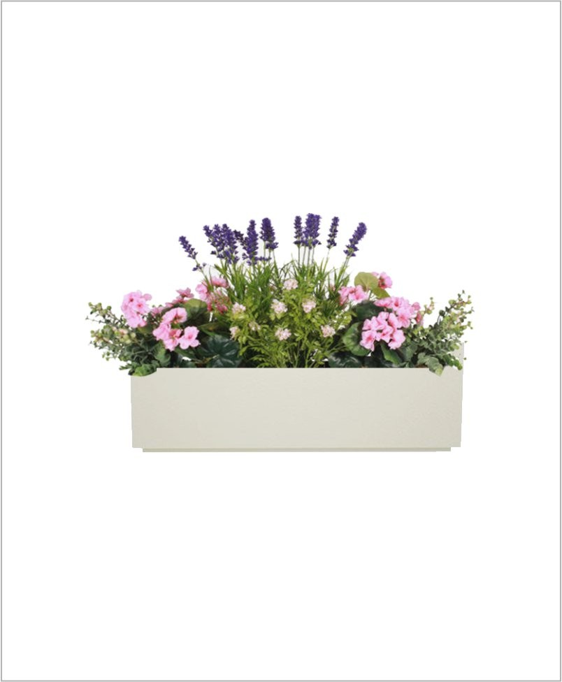 Rectangular Fiber Box Tray Planter 24 inch, Indoor - Outdoor Planter