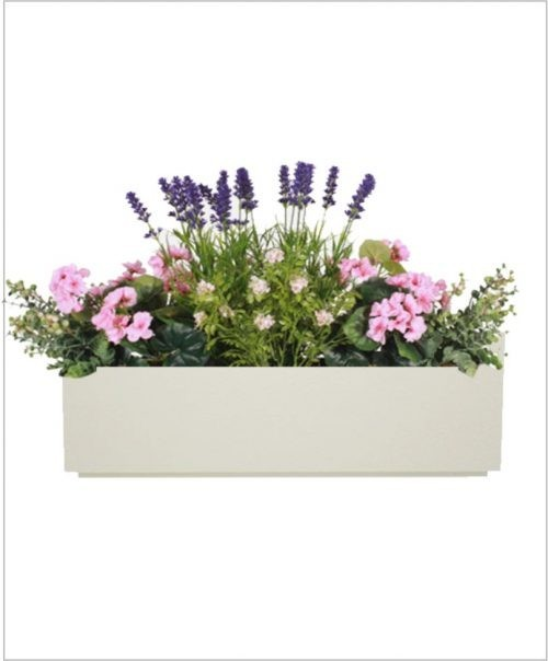 Rectangular Fiber Box Tray Planter 36 inch, Indoor - Outdoor Planter