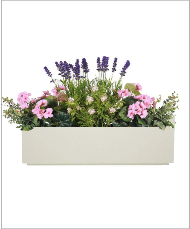 Rectangular Fiber Box Tray Planter 36 inch, Indoor - Outdoor Planter