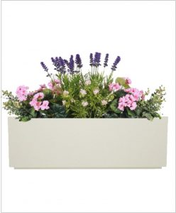 Rectangular Fiber Box Tray Planter 48 inch, Indoor - Outdoor Planter