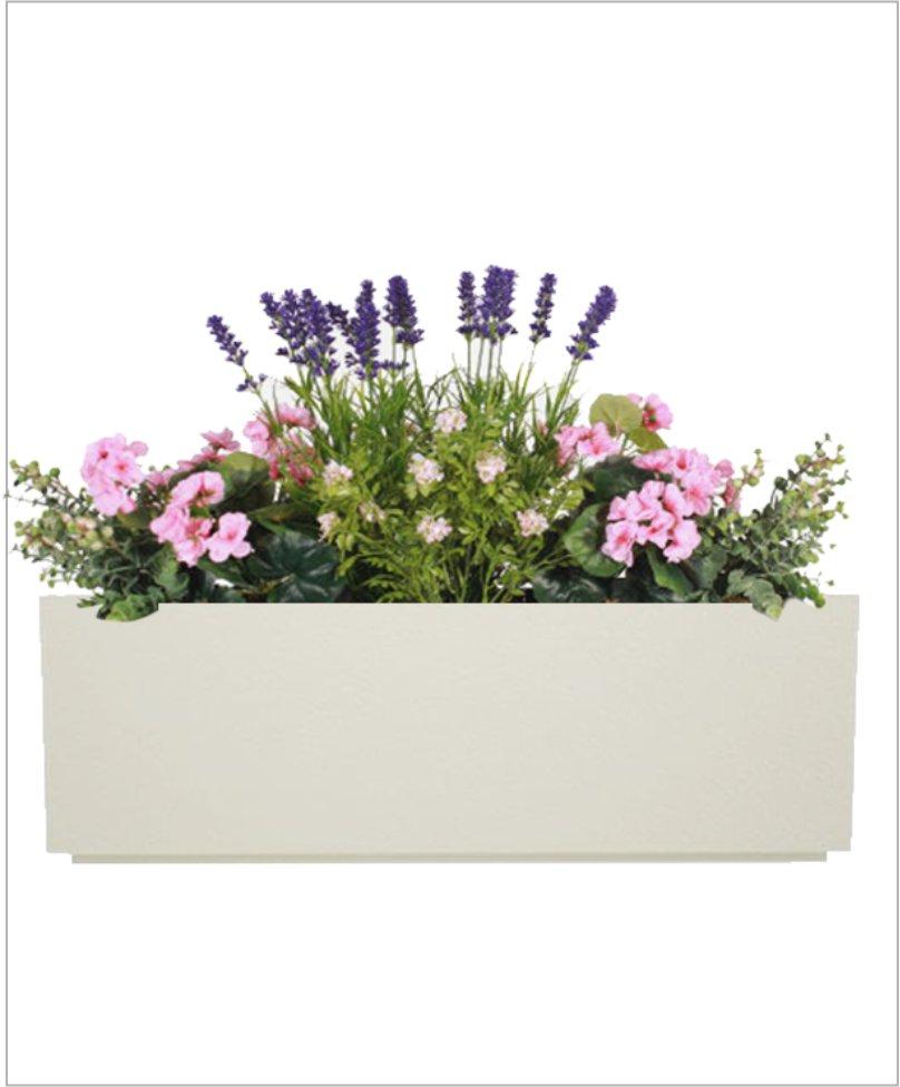 Rectangular Fiber Box Tray Planter 48 inch, Indoor - Outdoor Planter