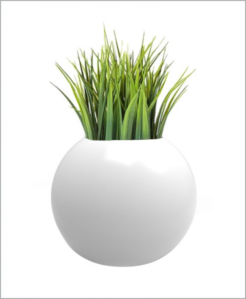 Decorative Fiber Planter Geometric Shape 18 Inch Sphere