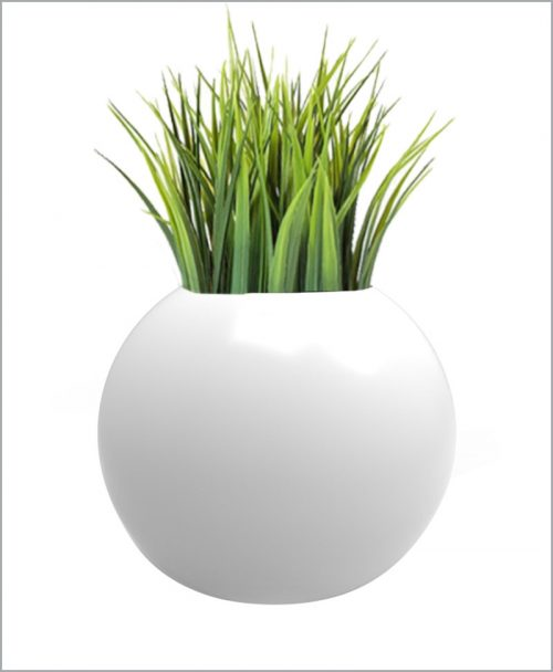 Decorative Fiber Planter Geometric Shape 20 Inch Sphere