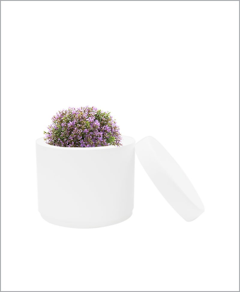 Table Top Fiber Planter Cylinder 6 inch