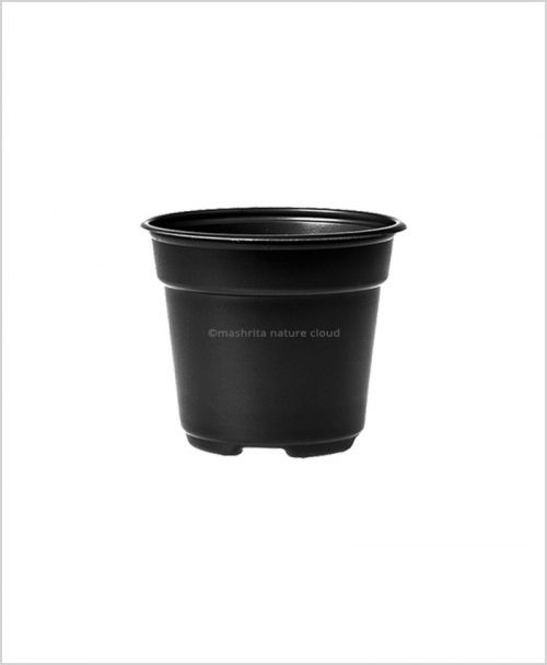 Buy Plastic 12 inch Round Garden Pot (Black Color)