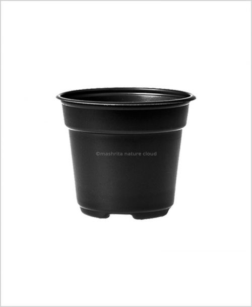 Buy Plastic 14 inch Round Garden Pot (Black Color)