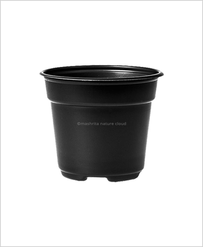 Buy Plastic 16 inch Round Garden Pot (Black Color)