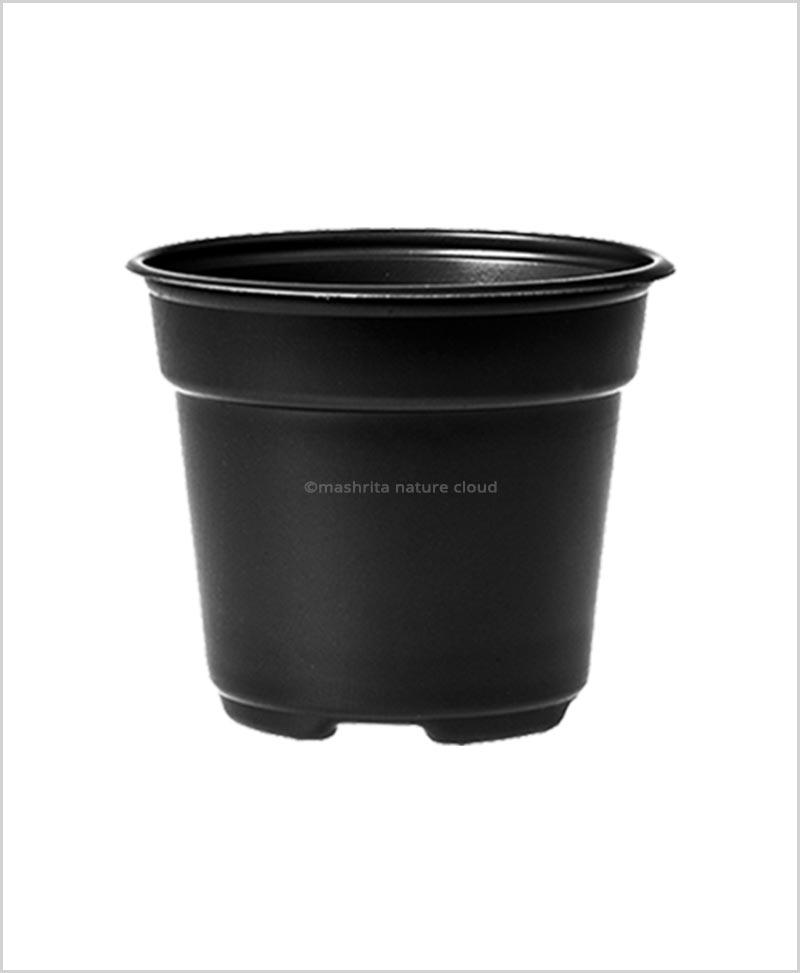 Buy Plastic 18 inch Round Garden Pot (Black Color)