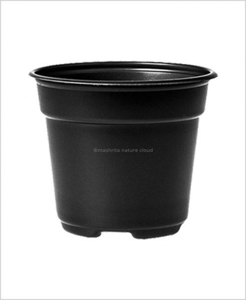 Buy Plastic 20 inch Round Garden Pot (Black Color)