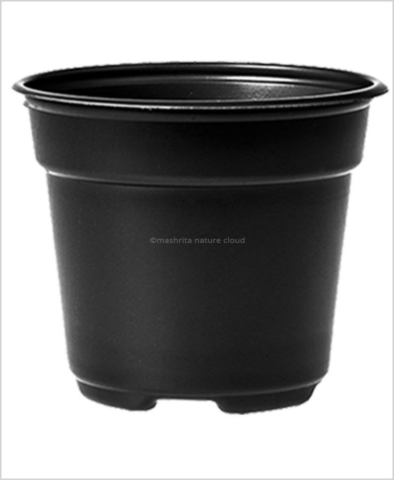 Buy Plastic 24 inch Round Garden Pot (Black Color)
