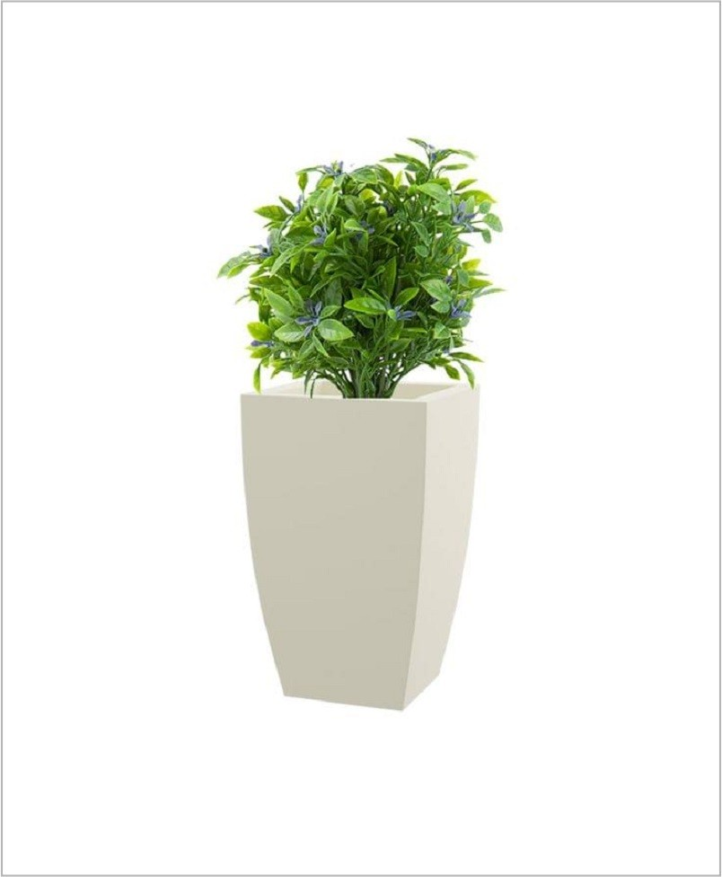 Fiber Planter White 12 Inch Square