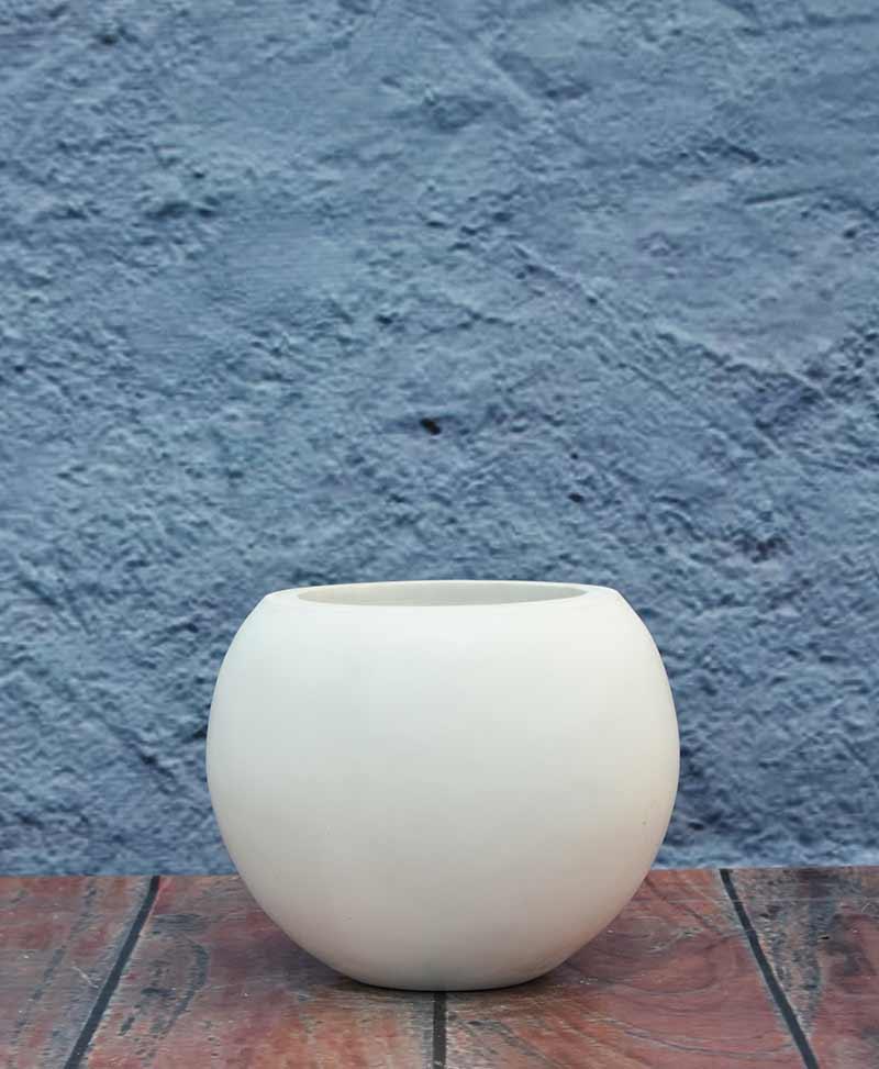 Geometric Shape Sphere Planter 12 inch, Indoor – Outdoor Fiber Planter