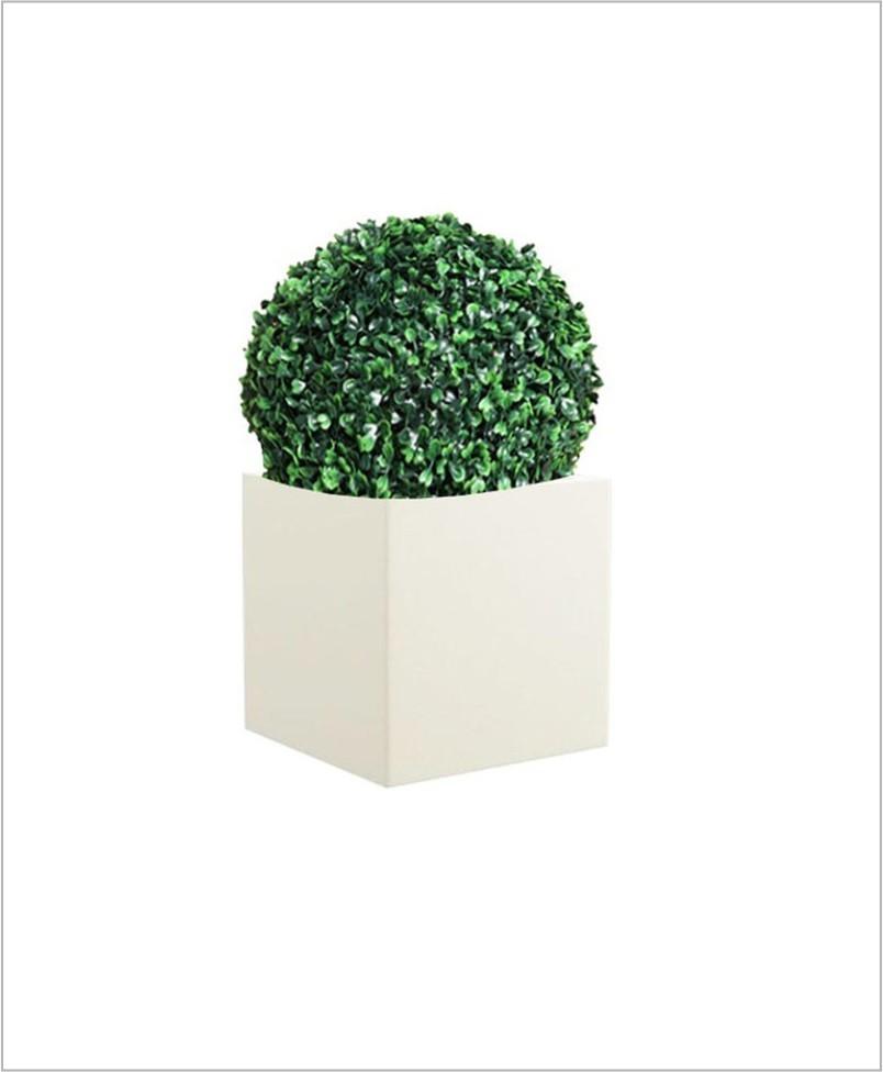 Square Shape Fiber Planter Cube