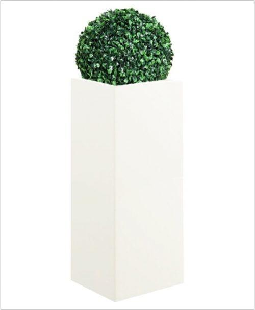 Square Shape Fiber Planter 36 inch, Indoor - Outdoor Planter