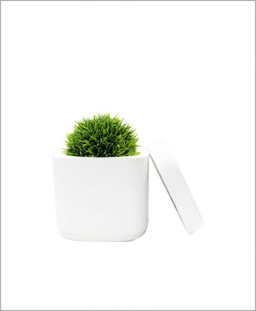 Table Top Fiber Planter 6 inch Square Pot