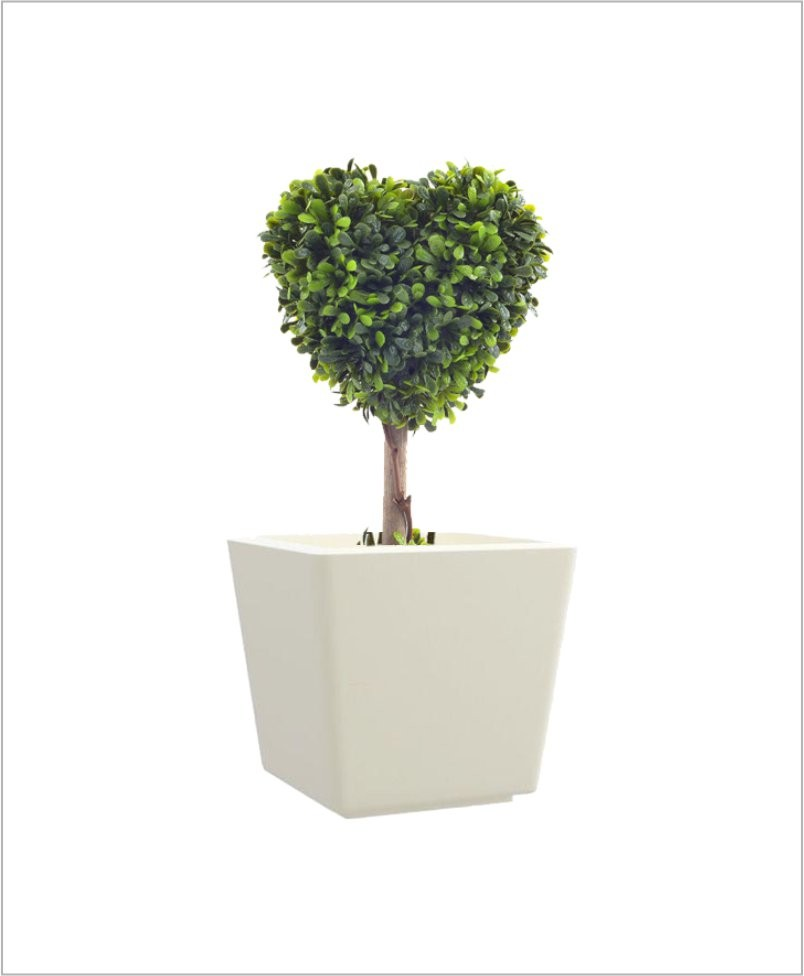 Tapered Square Shape Fiber Planter 15 inch