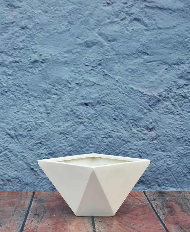 Geometric Shape Trapezium Planter 12 inch, Indoor – Outdoor Fiber Planter