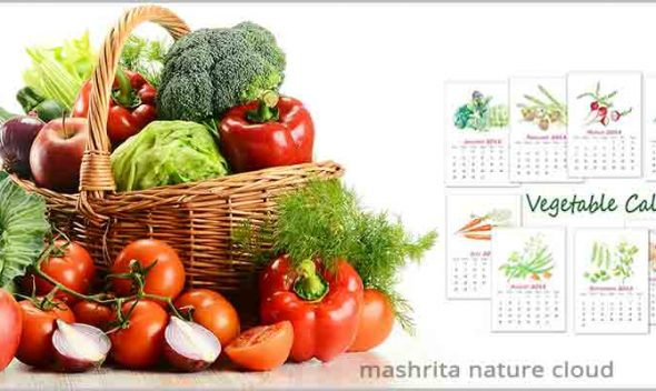 Vegetables Grow Calendar for Kitchen Garden For North, East & West India