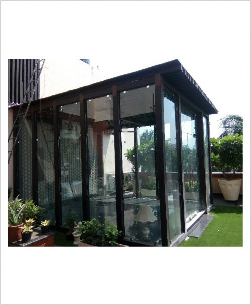 Vienna Gazebo (With Glass) - FRP Garden Gazebo