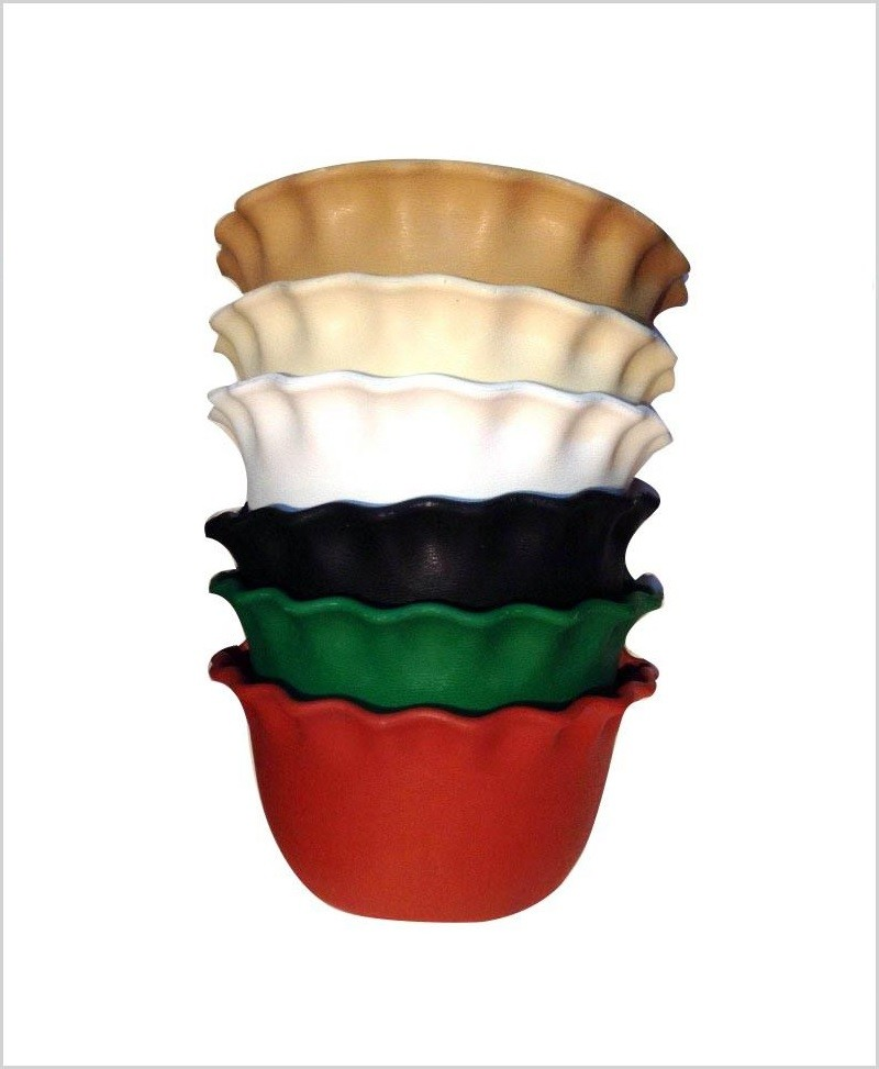 Buy Plastic 12 inch Wall Hanging Pot (Red Color)